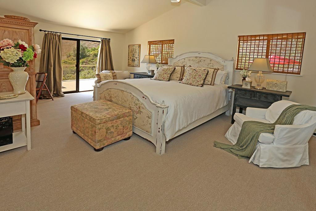 Master Bedroom opens to deck