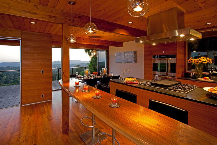 Breakfast bar between Kitchen and Living Room