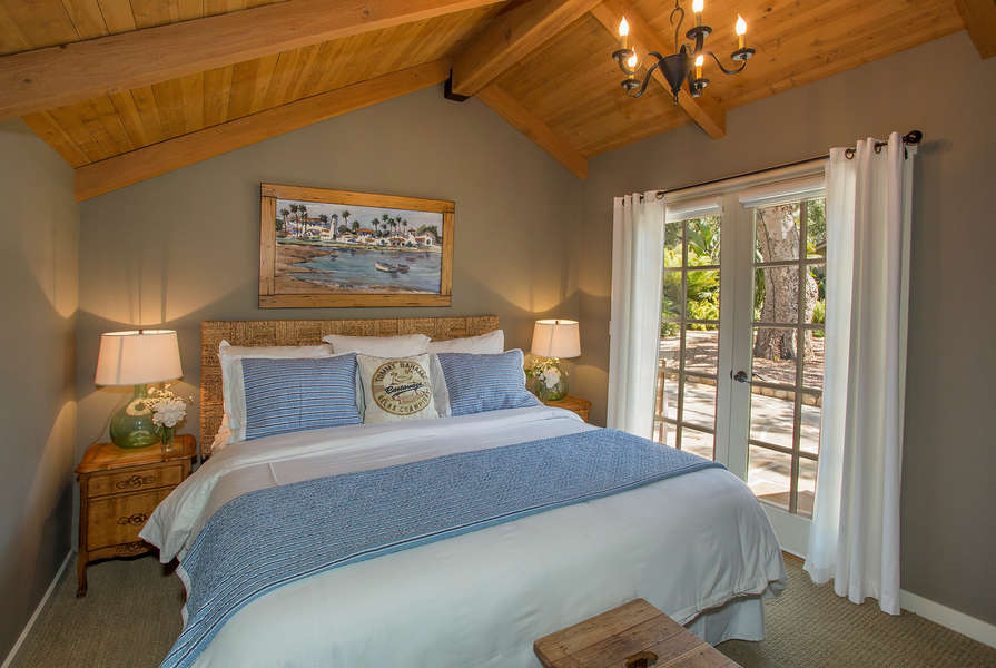 Pool Cottage Bedroom opens to pool