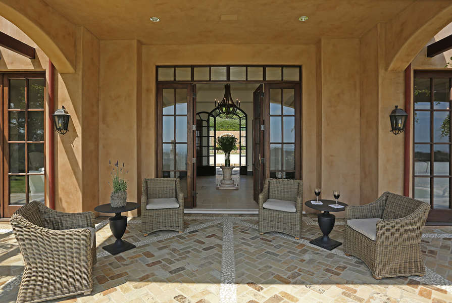 Pass through entry to this patio