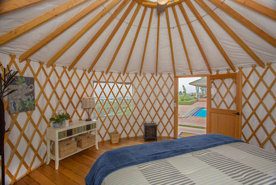 Enjoy the views from the Yurt!