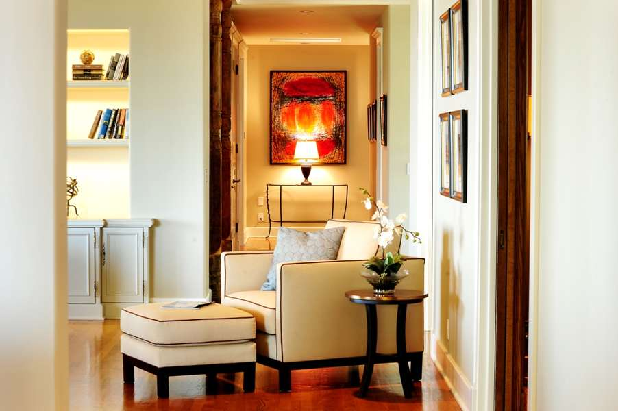 Fine art and stylish furnishings throughout