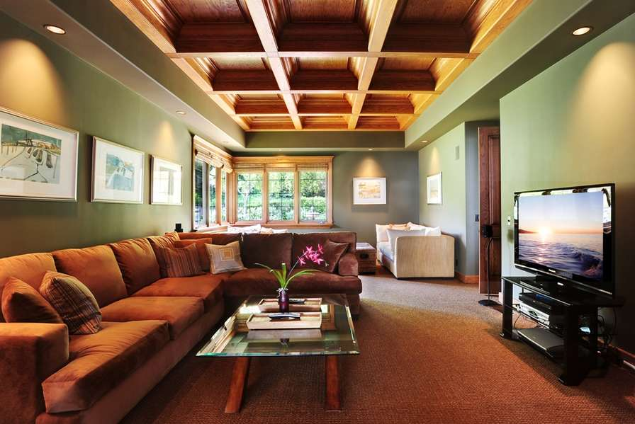 Media Room can be closed off with pocket doors