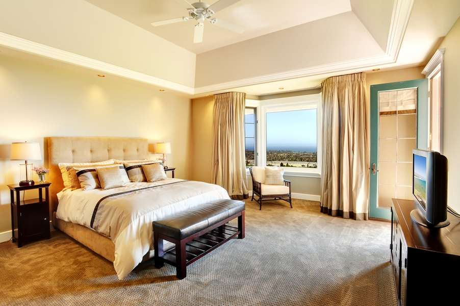 Master Suite with ocean views and patio access