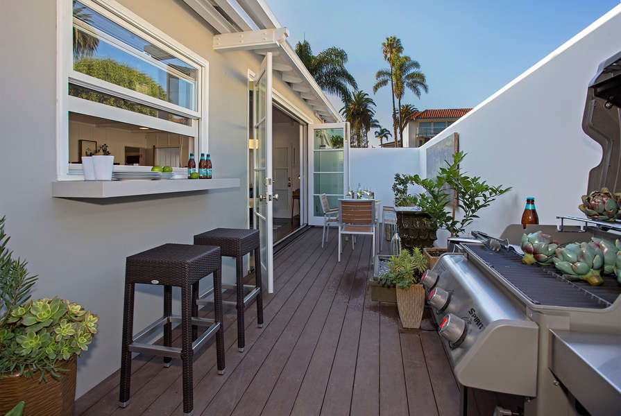 Compact and efficient, the patio has everything