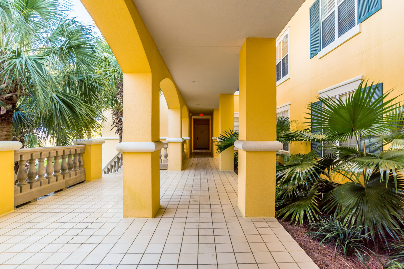 Breezeway to rooms
