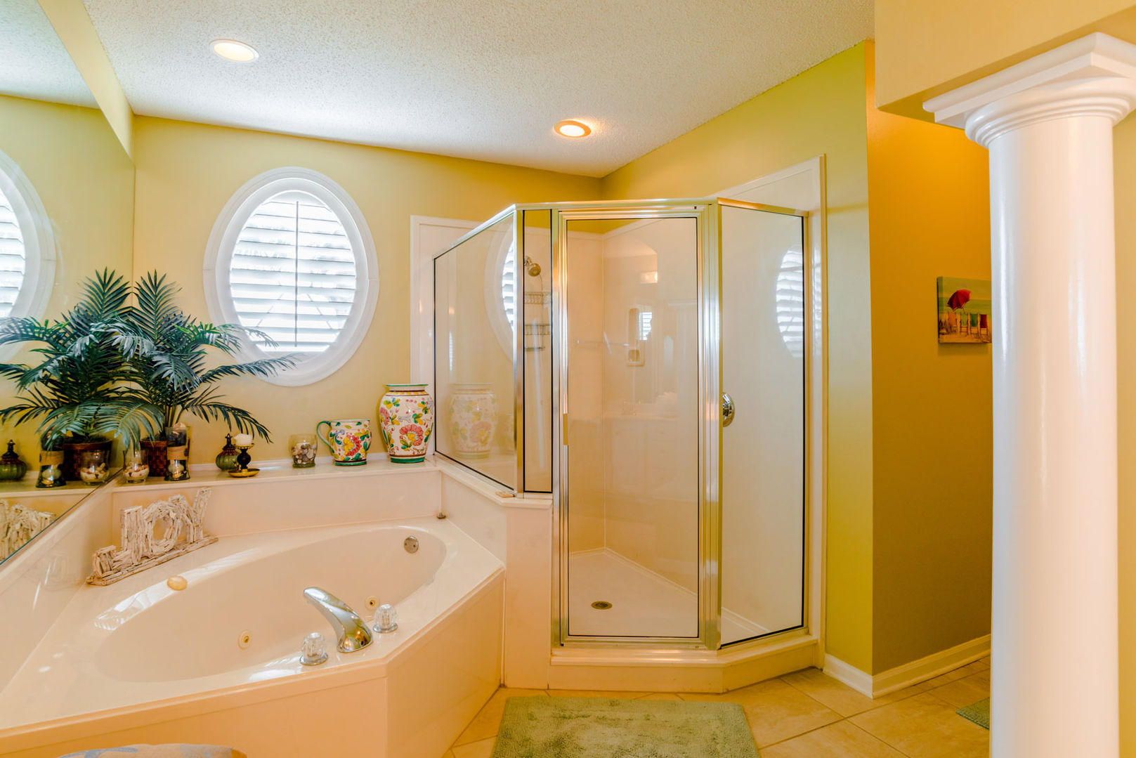 Garden Tub with adjacent Walk-In Shower