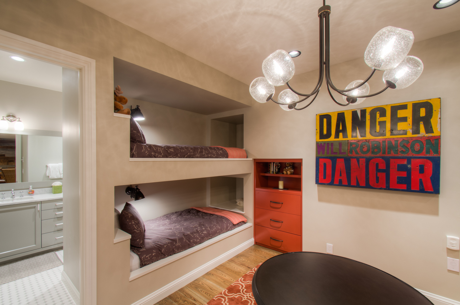 Room with In-Wall Twin Beds and En-suite Bathroom