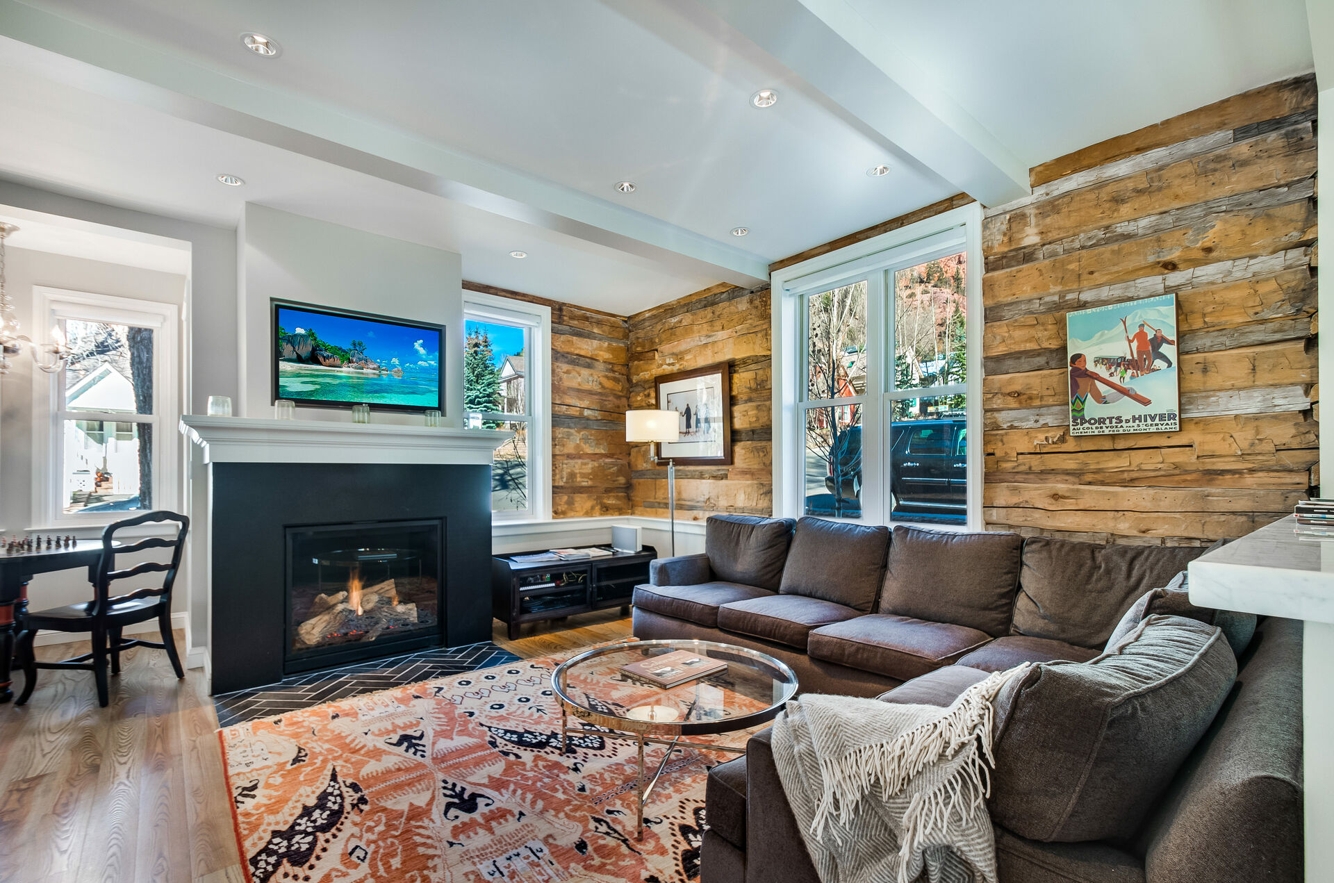 Living Space with Cozy Decor and Fireplace