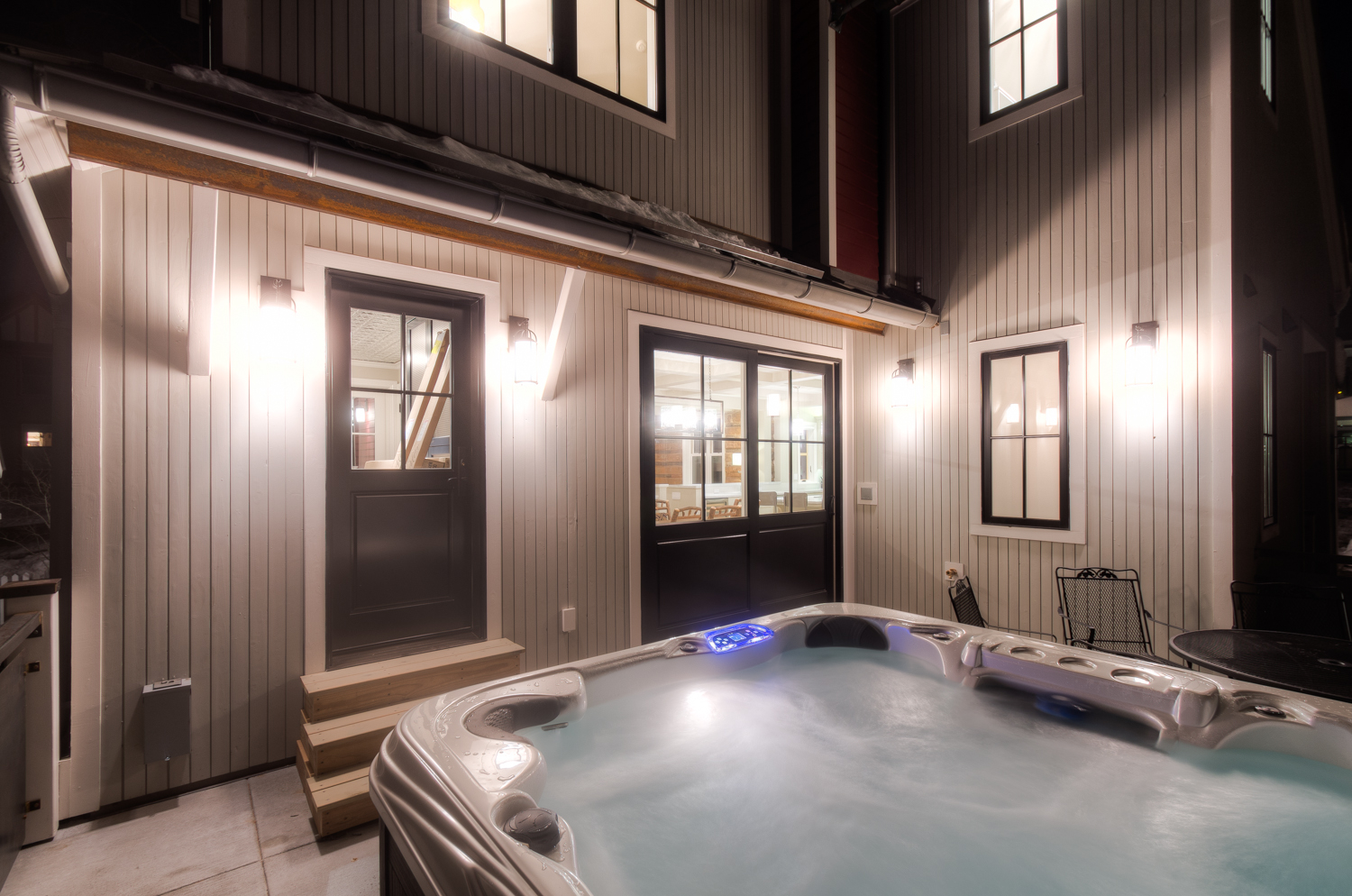 Private Outdoor Hot Tub on the Patio of Vacation Home in Telluride