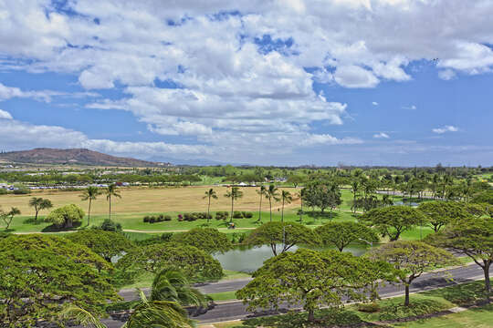 Golf Course View from this vacation house rental oahu hawaii