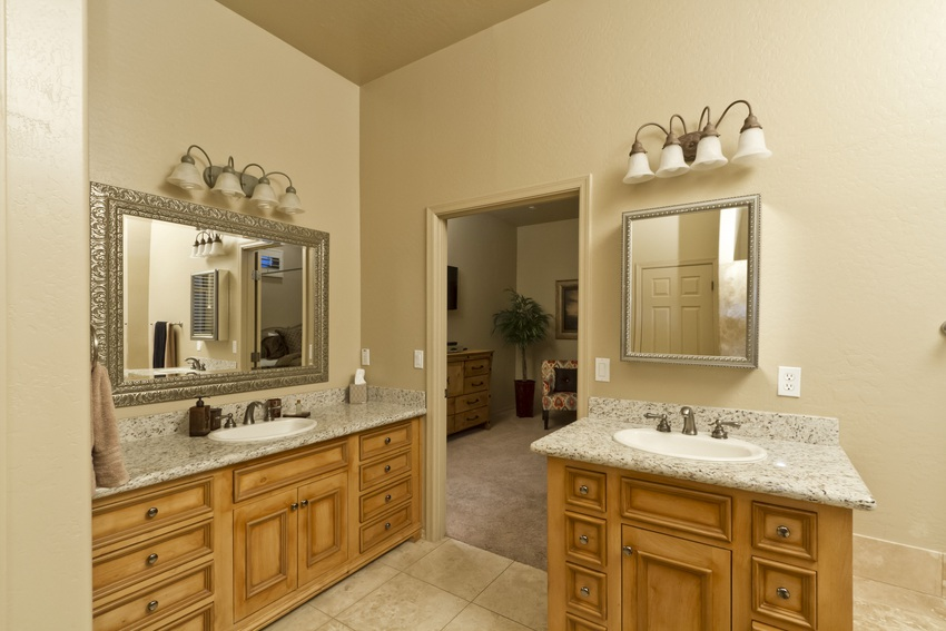 Two vanities make sharing a bathroom bare-able