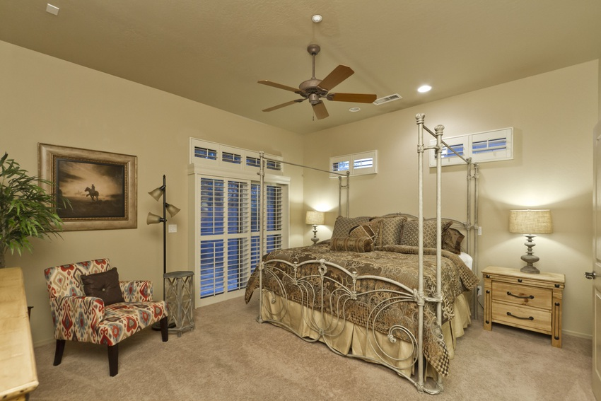 Lay in luxury in the master bedroom
