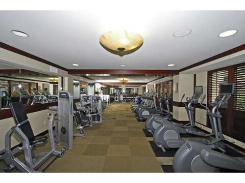 On-Site Gym Available to Ocean Towers Guests