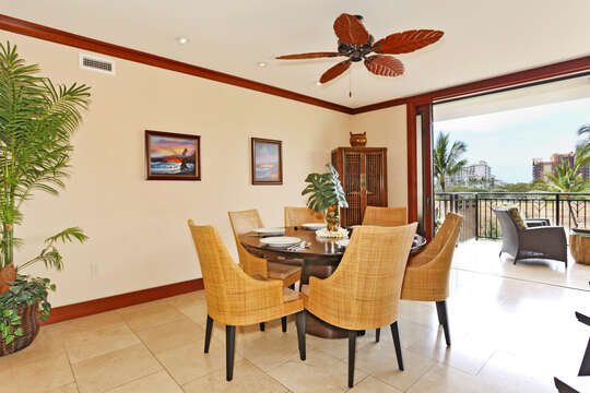 Dining Table with View at our Oahu Vacation House Rental