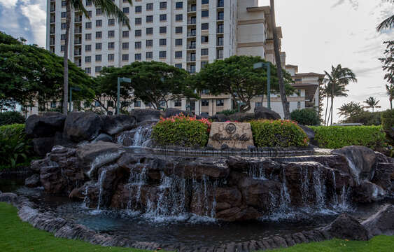 Fountain Outside the Beach Villas at Oahu