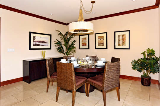 Spacious Dining Area with Seating for Six in OT-305