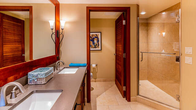 The Master Bath Also has a Large Walk-in Shower