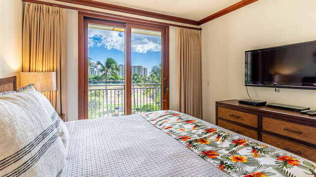 What a Great View from the Master Bedroom!