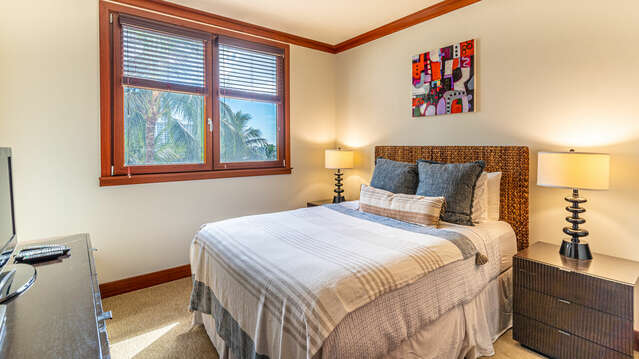 Second Bedroom with a Queen Bed and TV