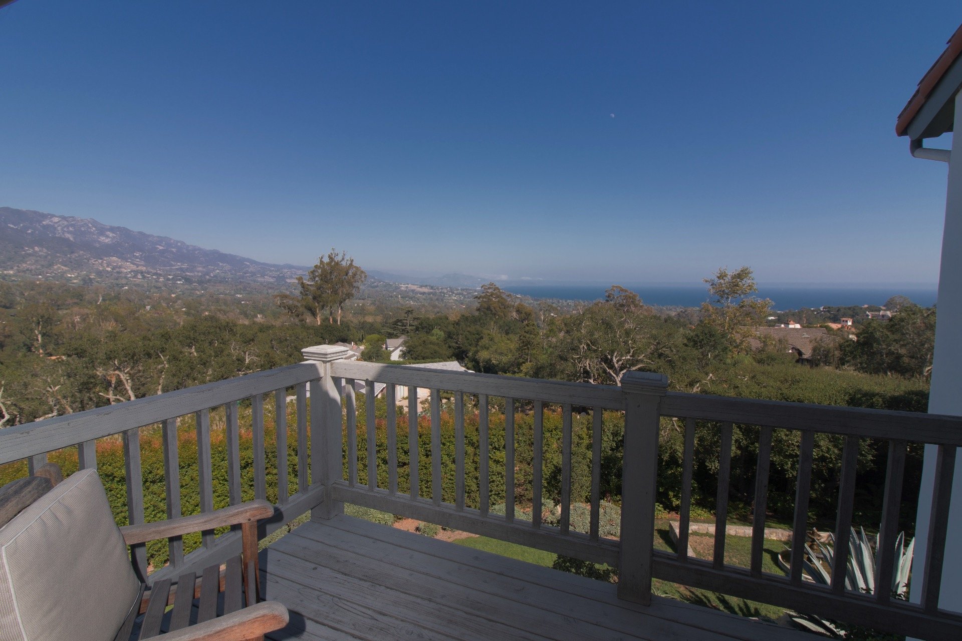 Mountain and ocean views from the balcony