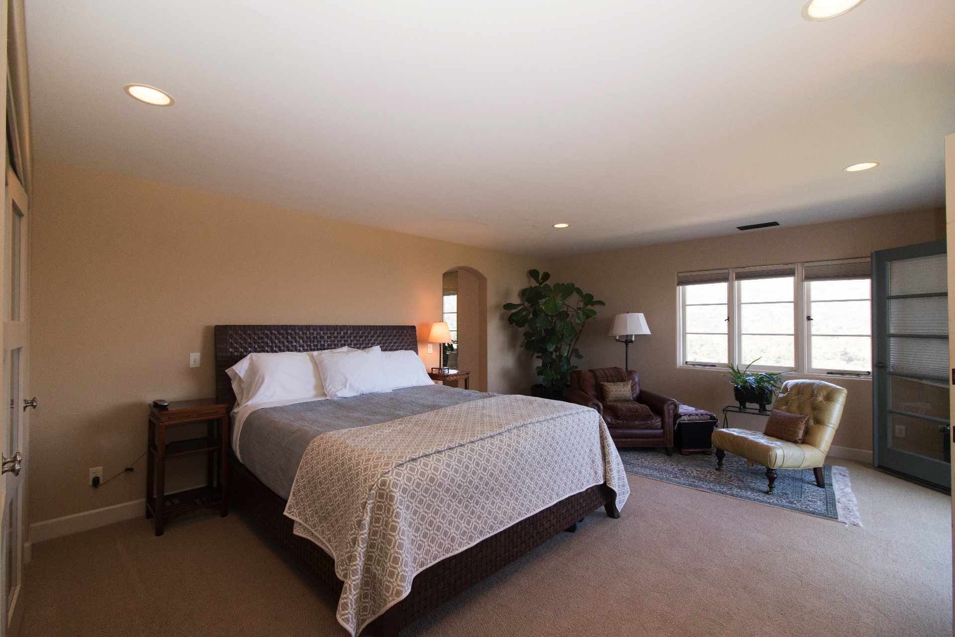 Master bedroom upstairs with sitting area