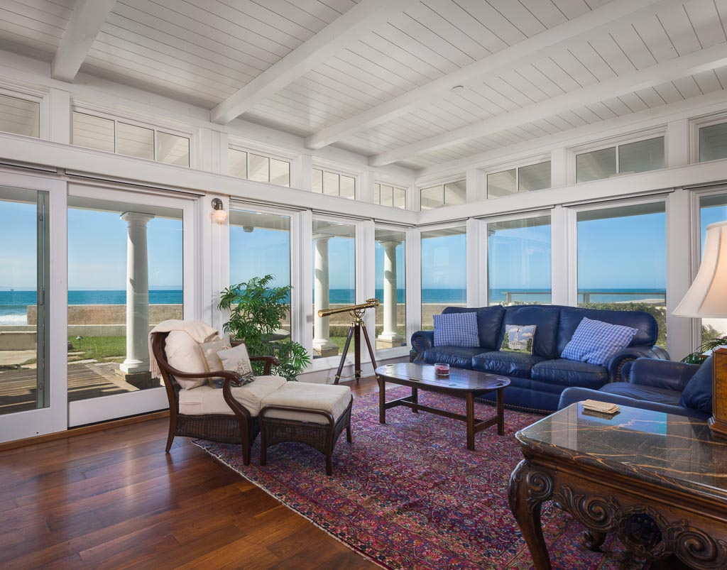 Living Room with ocean views off the bar area