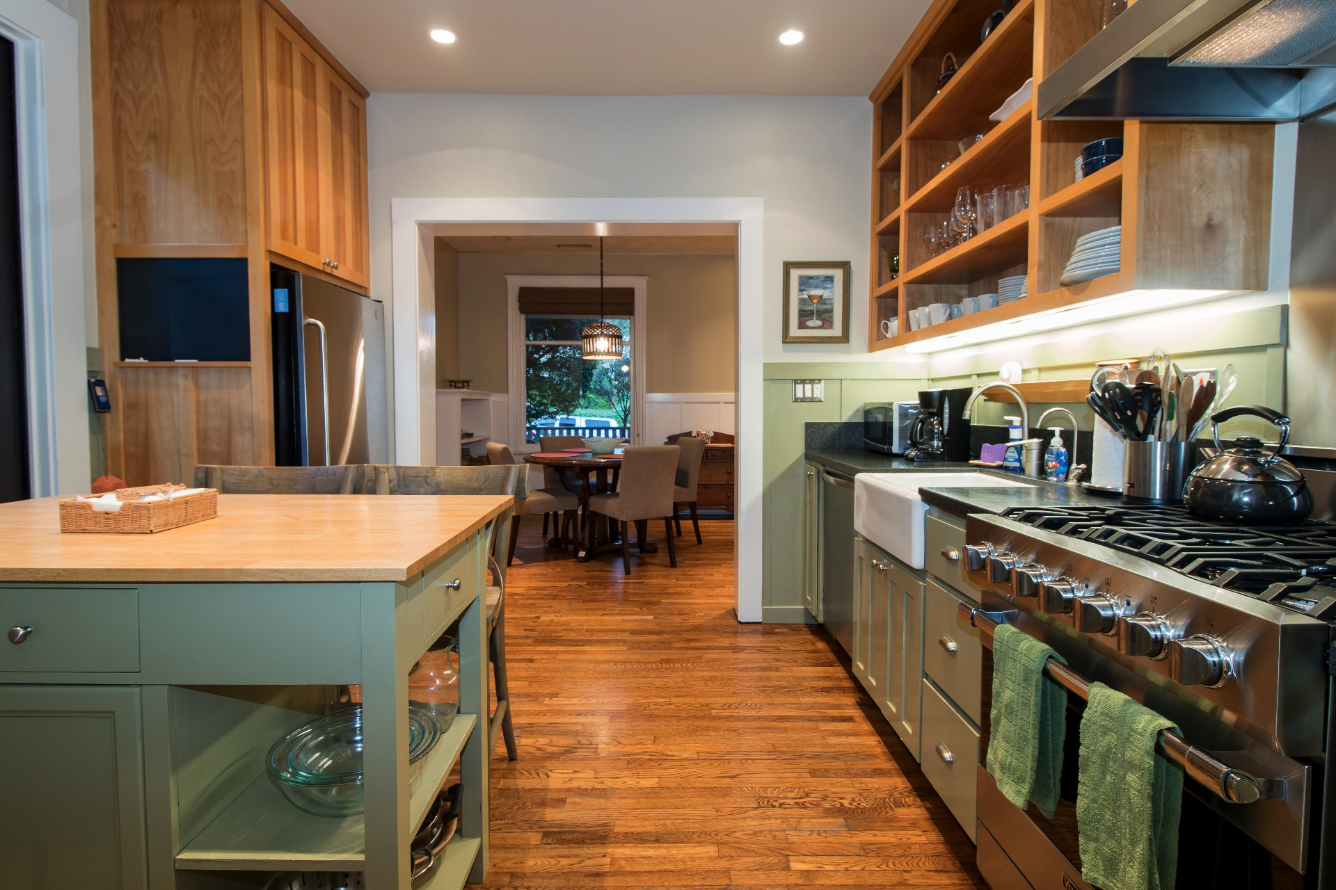 Another view of the upgraded kitchen