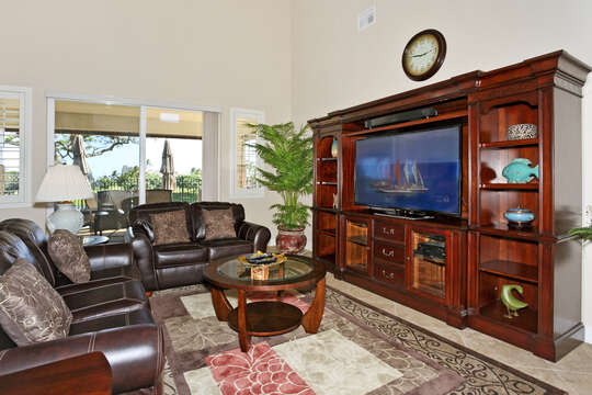 Large Entertainment Center in Living Room