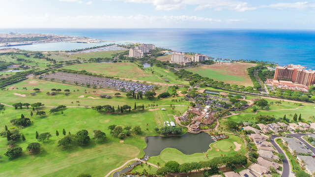 The Ko Olina area, as seen from above.