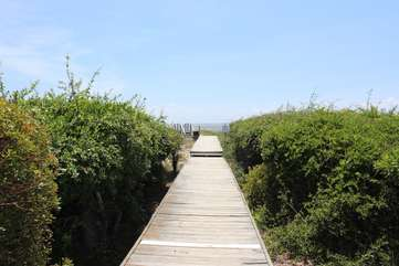 Stroll down the quiet path to your own empty beach.