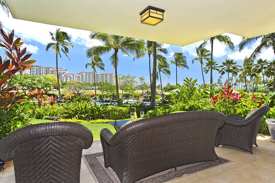 Lanai View with patio seating