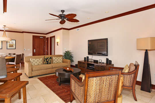 Living Area with TV and couch