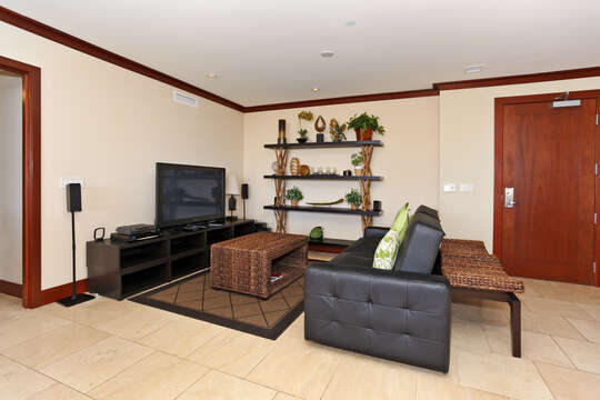 Second Living Area with a Large Flat Screen TV