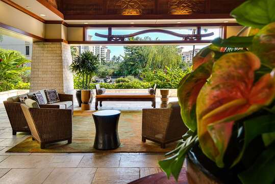 Seating Area at the Resort
