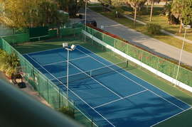 tennis/pickle ball & basket ball court