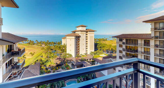 View or the Ocean and the Golf Course from our Ko Olina Condo.