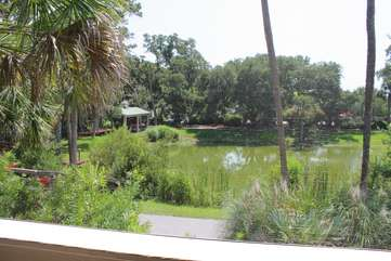 Bike ride to the Lake House where you can swim in the outdoor pool or workout.