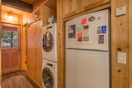 Hallway with washer/dryer