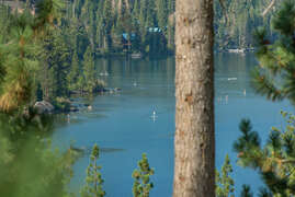 Views of Donner Lake from the front deck