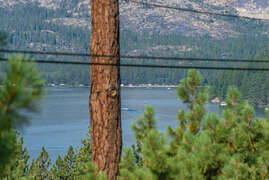 Views of Donner Lake from the front deck.