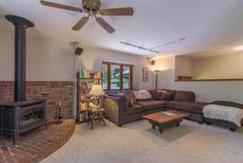 Living room and wood stove
