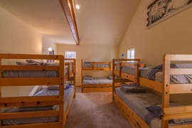 Bedroom 3, Downstairs with 3 bunk beds