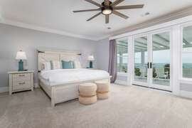 Second Floor King Bedroom- Oceanfront middle