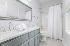 Fully Renovated Bathrooms And New Marble Countertops First Floor Bath to Bunk Bedroom left side