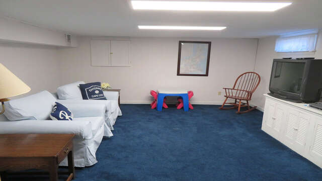 Bonus area on the lower level -Great place for the kids to watch a show or their favorite video! 26 Ridgevale Road South Harwich Cape Cod New England Vacation Rentals