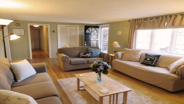 There is also a Queen sleep sofa in the living room- 26 Ridgevale Road South Harwich Cape Cod New England Vacation Rentals