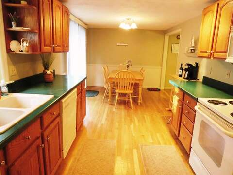 Fully equipped kitchen and dining area - 26 Ridgevale Road South Harwich Cape Cod New England Vacation Rentals