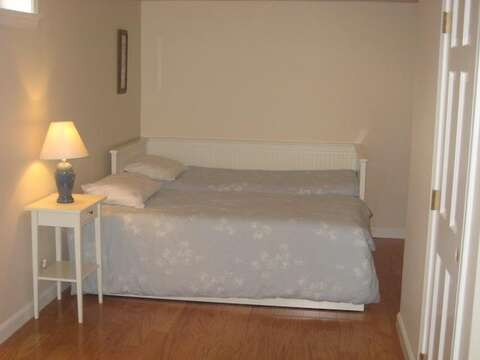 Lower Level  Extra Sleeping area with Trundle Bed that opens to King - 13 Monomoy Circle Chatham Cape Cod New England Vacation Rentals