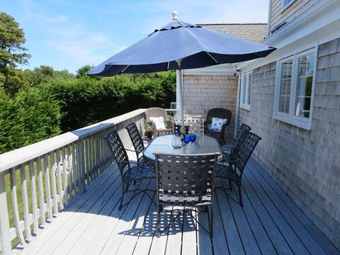 Outdoor living with gas barbecue grill - 13 Monomoy Circle Chatham Cape Cod New England Vacation Rentals